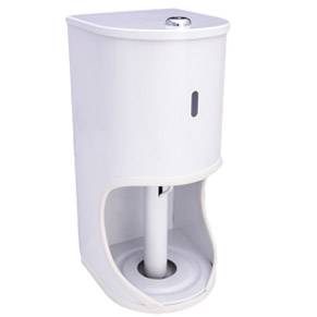 2 Roll Round Toilet Roll Holder