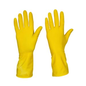 YELLOW HOUSEHOLD GLOVES – MEDIUM
