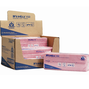 WypAll X50 Interfold Cloths – Red (Pack of 50 Cloths)