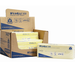 WypAll X50 Interfold Cloths Yellow