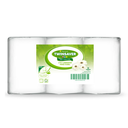 Twinsaver Laminated 2-Ply Hand Towels
