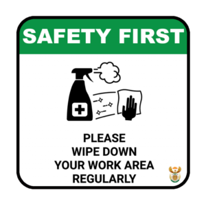 Wipe Work Area – ABS Sign