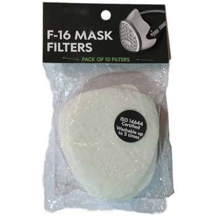 Reusable F16 Hornet Mask Replacement Filters 10 pack
