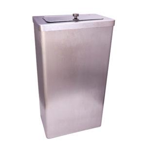 24L Sanitary Bin – Stainless Steel