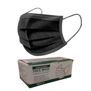 3 Ply Disposable Mask (Box of 50) – BLACK